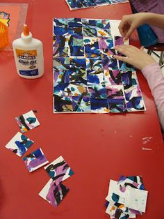 Non-Objective Art - Cool Collaborative art lesson idea for kids Group Art Projects, Classroom Art Projects, Art Classroom, Collaborative Art Projects, Classroom Ideas, Elementary Art Rooms, Art Lessons Elementary, 5th Grade Art, Sixth Grade