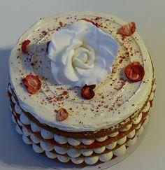 Gluten & dairy-free Strawberry Victoria layer cake @ Special bites