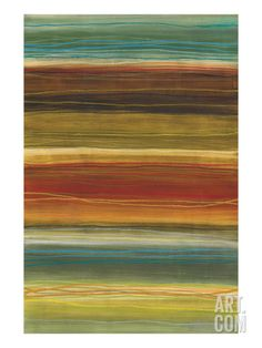 Organic Layers II - Stripes, Layers Stretched Canvas Print by Jeni Lee at Art.com Stretched canvas, 29.5 x 44