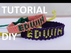 pulseras de hilo ancha | camino del inca | tutorial macrame BY ARTEMANUAL - YouTube