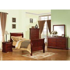 Louis Philippe III Cherry Sleigh Bed