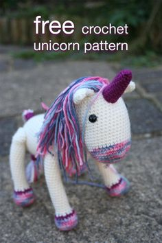 Free Crochet Unicorn Pattern. Learn how to make your very own crochet unicorn toy using this simple yet gorgeous crochet pattern.