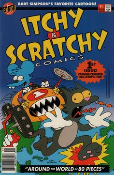 """""""Itchy and Scratchy Comics"""" #1 cover"""