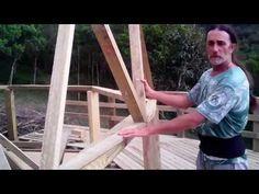 Domo Geodesico Madera Colocando Abertura Puerta - YouTube