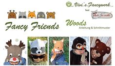 Freebook Tiermützen Waldtiere Mütze für Babys und Kinder 38 - 58 nähene
