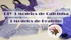 DIY - 6 Modelos de Lingerie + Molde - Curso de Corte e Costura - Passo a...