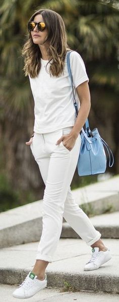 Spring-Summer: All White Outfit Similar Style Available on SiiZU