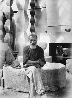 The Artist Brancusi in his studio