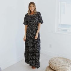 Journey Five | Phoebe Polka Dot Tiered Dress