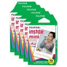 Fuji Instax Mini Instant Film 50pk Fun Pack | Teds Cameras - Ted's Cameras