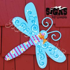 Dragonfly door sign by Signs by Koale