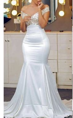 Aso Ebi African Off The Shoulder Mermaid Evening Dresses Appliques Lace Satin Backless Prom Dress, Shop plus-sized prom dresses for curvy figures and plus-size party dresses. Ball gowns for prom in plus sizes and short plus-sized prom dresses for Gold Prom Dresses, Backless Prom Dresses, Mermaid Evening Dresses, Bridal Dresses, Evening Gowns, Reception Dresses, Evening Party, Formal Dresses, Elegant Dresses