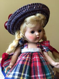 Vintage Vogue Strung Ginny Doll, 1952 Tiny Miss Wanda, Fabulous! #DollswithClothingAccessories