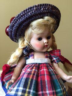 Vintage Vogue Strung Ginny Doll, 1952 Tiny Miss Wanda, Fabulous! #DollswithClothingAccessories