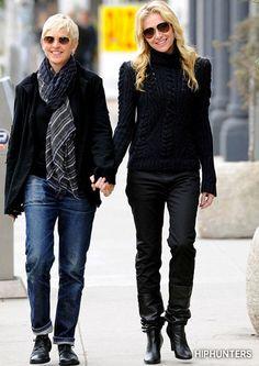 Ellen Degeneres and Portia de Rossi | Street Style
