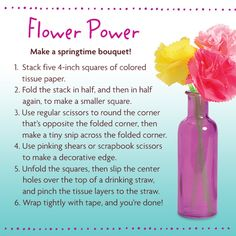 Don't wait for May flowers—you and your girl can craft some of your own!