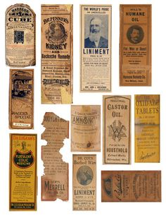 Pinner said: Dont know if anyone could use these..I just made 3 full sheets of real vintage medicine bottle labels, like these.. They may need sized for a bottle, but thats easy just to shrink the page down...all 3 are on my pinterest page, where you can just right click, save and printhttp://pinterest.com/pin/262053272040521945/