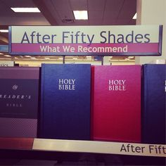 BAM! I thought this was funny, though I'm not condoning messing up displays at bookstores.