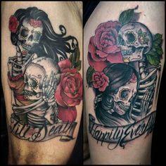 skeleton couple tattoo - Google Search