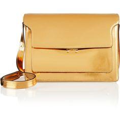 Marni Metallic patent-leather shoulder bag ($845) ❤ liked on Polyvore