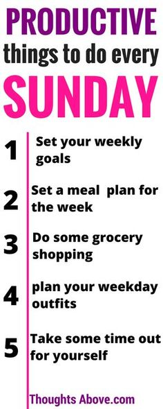 Productive Things To Do Every Sunday