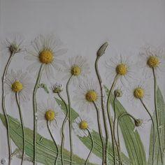 Wonderful plaster cast tiles of flowers by Rachel Dein of Tactile Studio   Flowerona