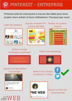 #Infographie - organiser Pinterest pour votre entreprise. Le réseau social qui prend de plus en plus d'ampleur.