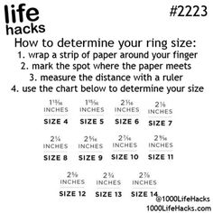 How to determine your ring size...