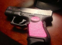 TractionGrips pink limited edition for Glock 19 pink gun lol if I ever owned one it would be pink