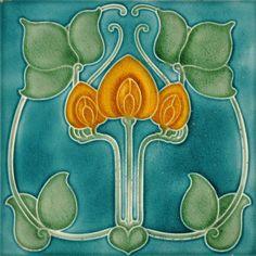 Pilkington's c1920s - RS0632 - Art Nouveau Tiles