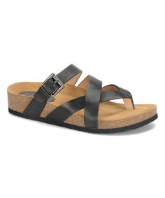 Love this Black Wrap Brooke Leather Sandal on #zulily! #zulilyfinds