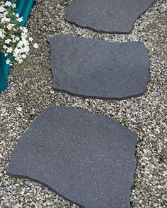Recycled Rubber Railroad Tie Stepping Stone | Gardeners.com Succulent Landscaping, Landscaping With Rocks, Backyard Landscaping, Landscaping Ideas, Backyard Ideas, Walkway Ideas, Backyard Walkway, Patio Ideas, Outdoor Ideas