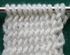 Tutorial: Twice-Knit Knitting by Megan Mills Twice-knit knitting is an unusual technique. It is remarkable because in addition to having almost no stretch it doesn't ravel. That's right, you can knit a fabric from Twice-knit and cut it, it won't ladder. It is a thick, dense fabric because the stitches are turned 90 degrees to the fabric surface. It feels plush and springy.