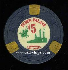 #LasVegasCasinoChip of the Day is a $5 Silver Palace 2nd issue http://www.all-chips.com/ChipDetail.php?ChipID=16967 #CasinoChip #LasVegas