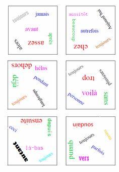 Dobble des mots invariables - L'école de petite Prune