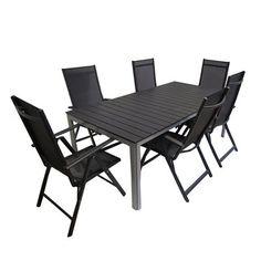 Henryka 512010A Aluminum 7-Piece Dining Set