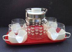 Service à café pyrex Hollandais / Pyrex par LaMachineaBrocantes