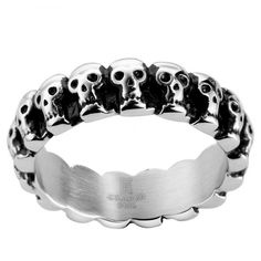 Retro Style Personalished Skull Heads Circles Ring #jewelry, #women, #men, #hats, #watches, #belts
