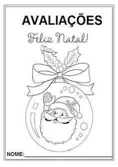Rosearts- Atividades para imprimir: Capa de avaliações 4º Bimestre tema Natal