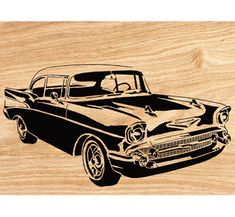 1957 Chevy Scrolled Wall Art Pattern