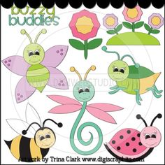 Buzzy Buddies 1 - Non-Exclusive Trina Clark Clip Art