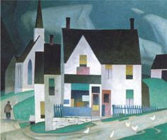 A.J. Casson, one of the Group of Seven  -  Country Store Tom Thomson, Emily Carr, Canadian Painters, Canadian Artists, Ontario, Group Of Seven Paintings, Arches Paper, National Art, Animation Background