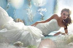 Disney Fairy Tale #Weddings by Alfred Angelo for #Disney Bridal - #Princess Ariel wedding dress http://www.weddinginspirasi.com/2011/02/09/disney-fairy-tale-weddings-by-alfred-angelo-princess-wedding-dresses/ #weddings #weddingdress