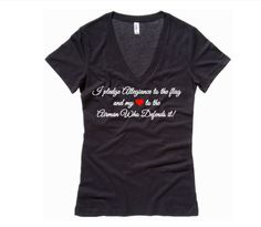 Pledge Allegiance  Military VNeck Shirt  Air by FreedomLoves603, $25.00