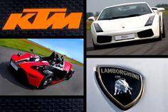 Spróbuj sił za kierownica Lamborghini i KTM