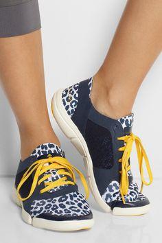 Adidas by Stella McCartney|Ararauna Dance leopard-print stretch-jersey sneakers|NET-A-PORTER.COM