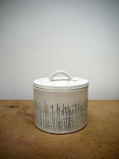 silver birch small storage jar
