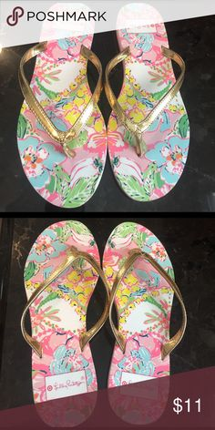 LILLY PULITZER Flip Flops! LILLY PULITZER Flip Flops! Size 6. Very good condition! See pics! Lilly Pulitzer for Target Shoes Sandals