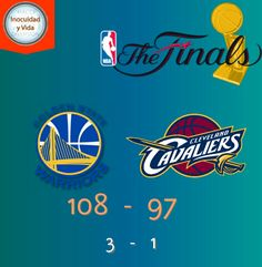@warriors gana el 4o juego en la casa de los @cavs para dejar la serie 3 a 1 #NBAFinals