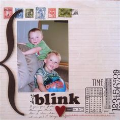 """Don't Blink"" by scrapkali, as seen in the Club CK Idea Galleries. #scrapbook #scrapbooking #creatingkeepsakes"